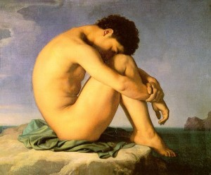 Flandrin_Hippolyte_1805-1864_-_Jeune_homme_nu_assis.._1855_-_Louvre